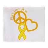 Peace,Love,Hope Throw Blanket