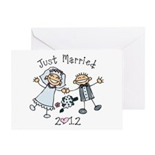 Stick Just Married 2012 Greeting Card