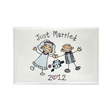 Stick Just Married 2012 Rectangle Magnet
