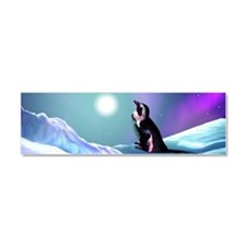 Contemplative Penguin Car Magnet 10 x 3