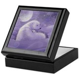 Polar Bear and Cub Art Keepsake Box