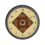 Unique Patchwork quilt Wall Clock