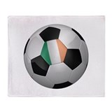 Irish soccer ball Throw Blanket