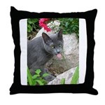 .sarcasti-cat. Throw Pillow