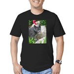 .sarcasti-cat. Men's Fitted T-Shirt (dark)