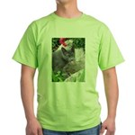 .sarcasti-cat. Green T-Shirt
