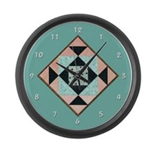 Unique Quilt in a day Large Wall Clock