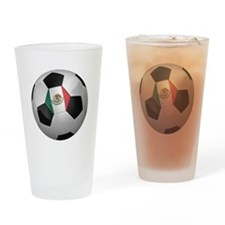 Mexican soccer ball Drinking Glass