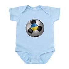 Ukrainian soccer ball Infant Bodysuit