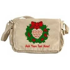 Add Your Own Text Wreath Messenger Bag