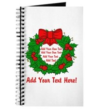 Add Your Own Text Wreath Journal