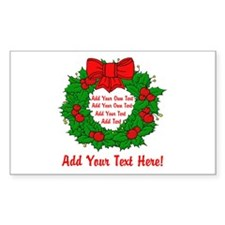 Add Your Own Text Wreath Decal