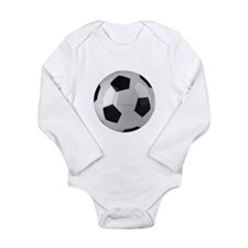 Soccer ball Long Sleeve Infant Bodysuit