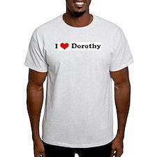 I Love Dorothy Ash Grey T-Shirt