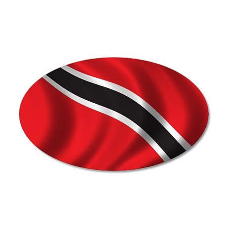 Flag of Trinidad and Tobago 22x14 Oval Wall Peel