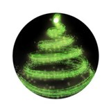 Techno Christmas Tree Ornament (Round)