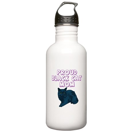 Proud Black Cat Mom Stainless Water Bottle 1.0L