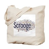 Scrooge Christmas Carol Word Art Tote Bag