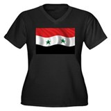Flag of Syria Women's Plus Size V-Neck Dark T-Shir