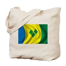 Flag of Saint Vincent and the Grenadines Tote Bag