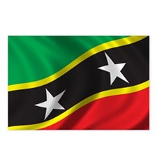 Flag of Saint Kitts and Nevis Postcards (Package o