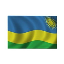 Flag of Rwanda Rectangle Magnet (10 pack)