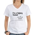 Helping Hooker Women's V-Neck T-Shirt