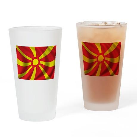 Flag of Macedonia Drinking Glass