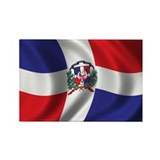 Flag of the Dominican Republic Rectangle Magnet (1