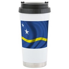 Flag of Curacao Ceramic Travel Mug