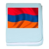 Flag of Armenia baby blanket