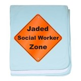 Jaded Social Worker baby blanket