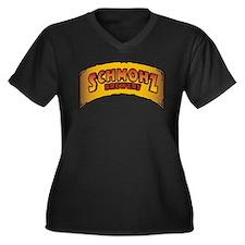 Unique Miracles Women's Plus Size V-Neck Dark T-Shirt