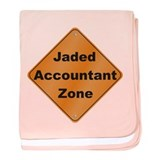 Jaded Accountant baby blanket