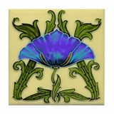 Morning Glory Tile Coaster