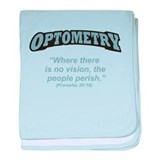 Optometry / Perish baby blanket