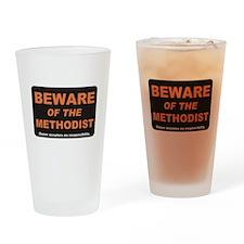 Beware / Methodist Drinking Glass