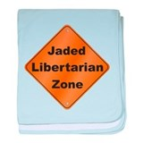 Jaded Libertarian baby blanket