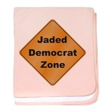 Jaded Democrat baby blanket