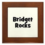 Bridget Rocks Framed Tile