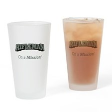 Rifleman - On a Mission Drinking Glass