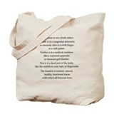 &quot;Not a birth defect&quot; Tote Bag