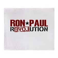 Ron Paul Star Throw Blanket