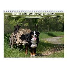 Bernese mountain dog Wall Calendar