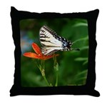.swallowtail on candy lily. Throw Pillow
