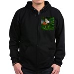 .swallowtail on candy lily. Zip Hoodie (dark)