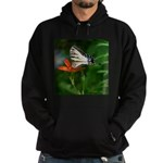 .swallowtail on candy lily. Hoodie (dark)