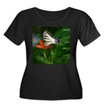 .swallowtail on candy lily. Women's Plus Size Scoo