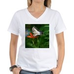 .swallowtail on candy lily. Women's V-Neck T-Shirt