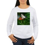 .swallowtail on candy lily. Women's Long Sleeve T-